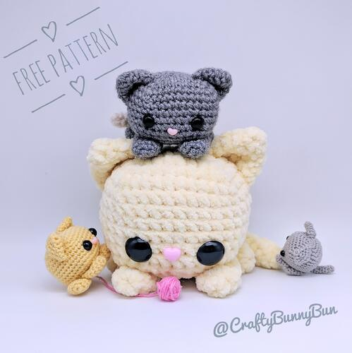 Cube Kitty Cat Amigurumi Pattern