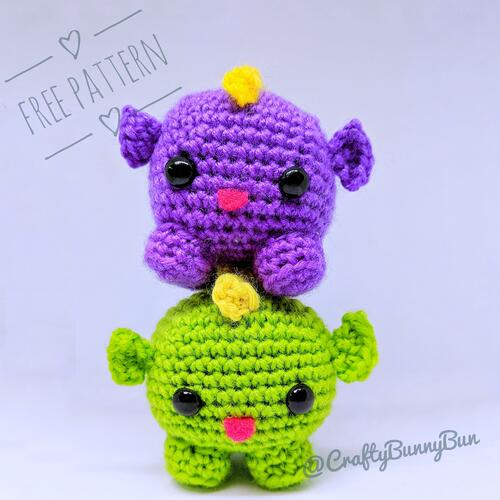 Cube Little Dragon Amigurumi Pattern