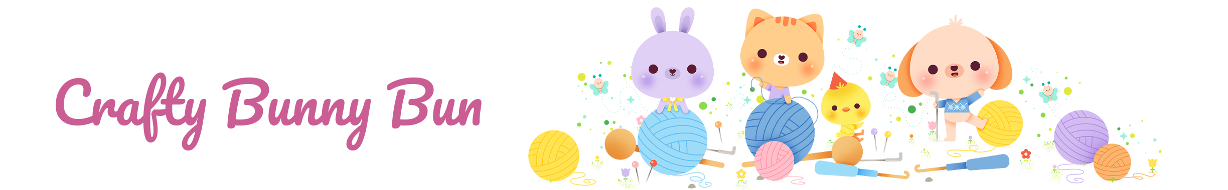 crafty bunny bun logo and banner
