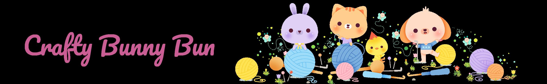crafty bunny bun logo and banner