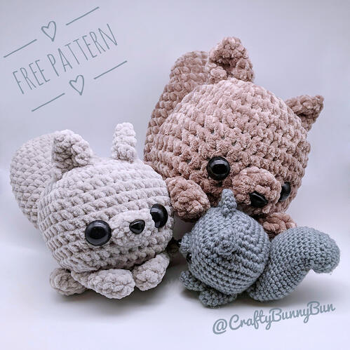 Little Cube Squirrel Amigurumi Pattern